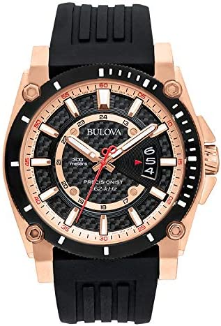 Bulova Men s 98B152 Precisionist Analog Chronograph Black Watch