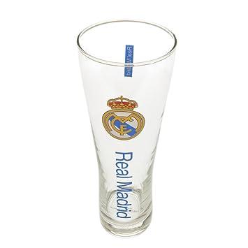 Vaso de cerveza alto, diseño del Real Madrid F.C, de la marca Real Madrid F.C.: Amazon.es: Deportes y aire libre