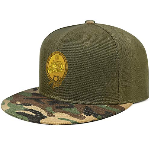 GuLuo Great American Beer Festival Gold Medal Flat Brim Baseball Cap Camo Breathable Adjustable Sports Hat
