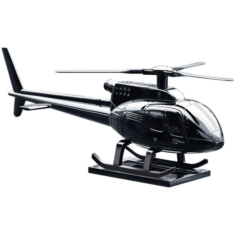 Ur HQCC Car Interior Decoration, Helicopter Metal Handicraft with Solar Wing for Car, Home, Office, Gift,A
