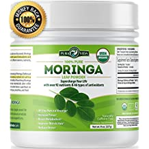 Organic Moringa Powder   Supercharge Your Smoothies with Natures Most Potent Superfood   Rich in Vitamin C, E and A, Calcium, Magnesium, Iron, Protein   Boost Energy, Metabolism and Immunity