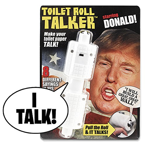 Donald Trump Toilet Roll Talker – Makes Regular Toilet Paper Talk with Trump's REAL VOICE – 8 Hilarious Sayings -Fun Gag Gift for Hillary & Trump Fans – Bathroom Joke Gift – Funny Gift for any Holiday