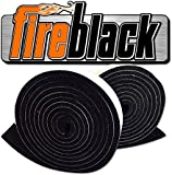 FireBlack 125 Black Nomex Self Stick Replacement Big Green Egg Gasket High Temp w/ LavaLock (tm) LG XL