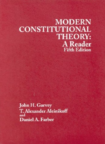 Modern Constitutional Theory: A Reader 5th Edition