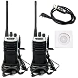 Best FM Radio With Earpiece Silvers - Retevis RT7 2-Way Radio 3W 16 Channels UHF Review