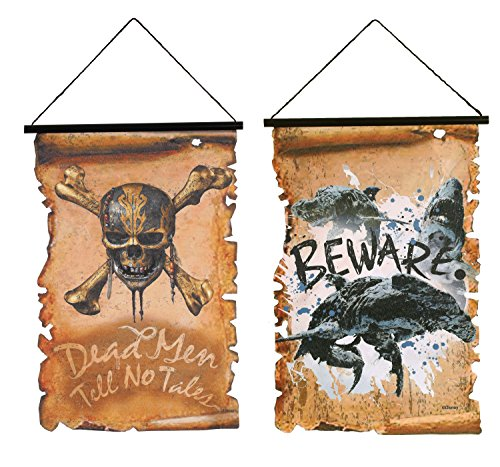 Disney Pirates of the Caribbean Pirate Scroll Banners