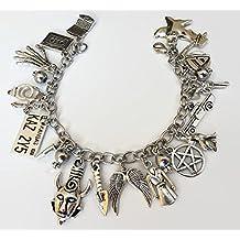 Supernatural Themed Charm Bracelet - Castiel Dean Sam Winchester inspired Jewelry