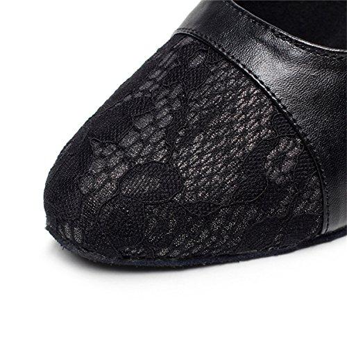 JSHOE Chaussures De Danse Femmes Pour La Salle De Bal Latine Salsa Floral Satin / Tango / Chacha / Samba / Moderne / Chaussures De Jazz Sandales Talons Hauts,B-heeled7.5cm-UK6.5/EU40/Our41