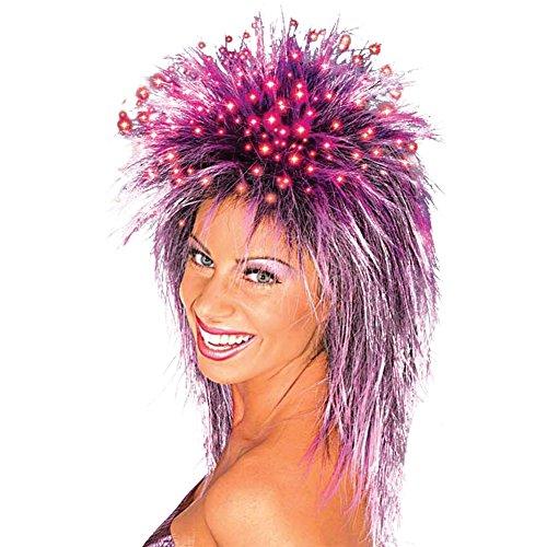 Purple Fiber Optic Wig (Costume-Wig Fiber Optic Wig Purple Halloween Costume - 1 size)