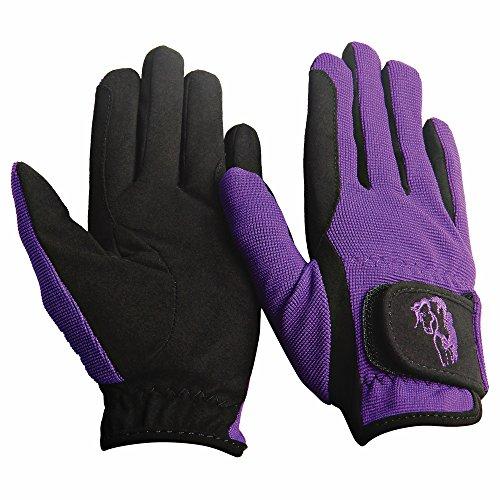 Gloves Childs Pony Rider - TuffRider Children's Performance Gloves (Purple, S)