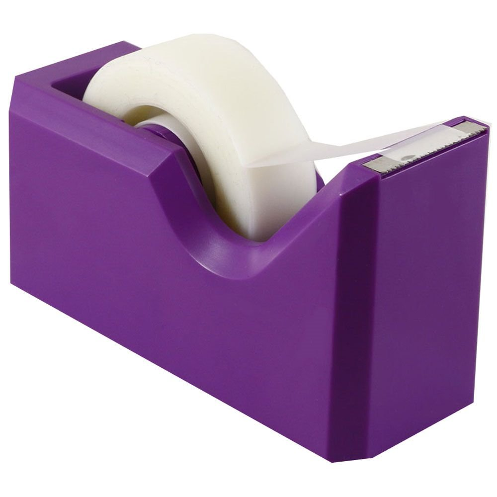 JAM PAPER Colorful Desk Tape Dispensers - Purple - Sold Individually