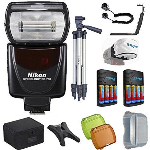 Nikon SB-700 AF Speedlight Flash for Nikon Digital SLR Cameras + Pixi-Pro Flash Accessory Bundle by Pixibytes