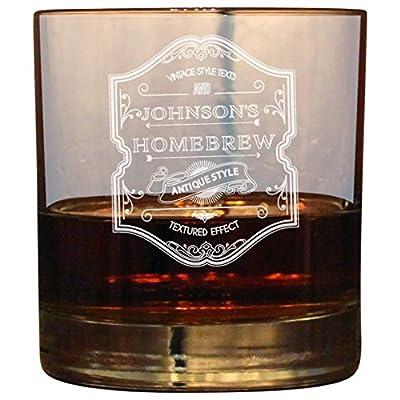 10oz Rocks Glass Heavy Base Personalized Custom Cocktail Glass Add your Text/Logo