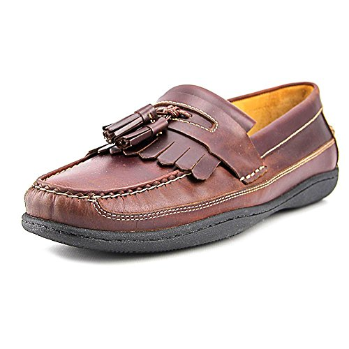 Johnston & Murphy  Men's Fowler Kiltie Tassel Mahogany Pull-Up Loafer