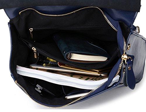 azul Azul Bolsa Mochila Mujer de de Cuero Mujer Crossbody Bolso hombro 1vOBqCwAxn