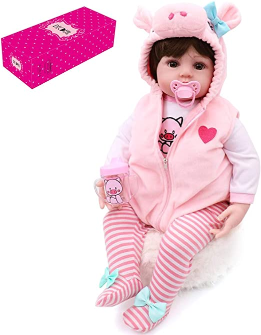 "18/"" Doll Reborn Girl Baby Lifelike Toddler Silicone Vinyl Newborn Toy Kids Gift"