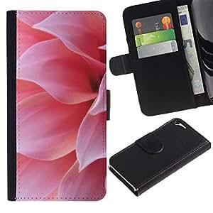 For Apple iPhone 5 / iPhone 5S,S-type® Pink Flower Petal Sun Summer Nature - Dibujo PU billetera de cuero Funda Case Caso de la piel de la bolsa protectora