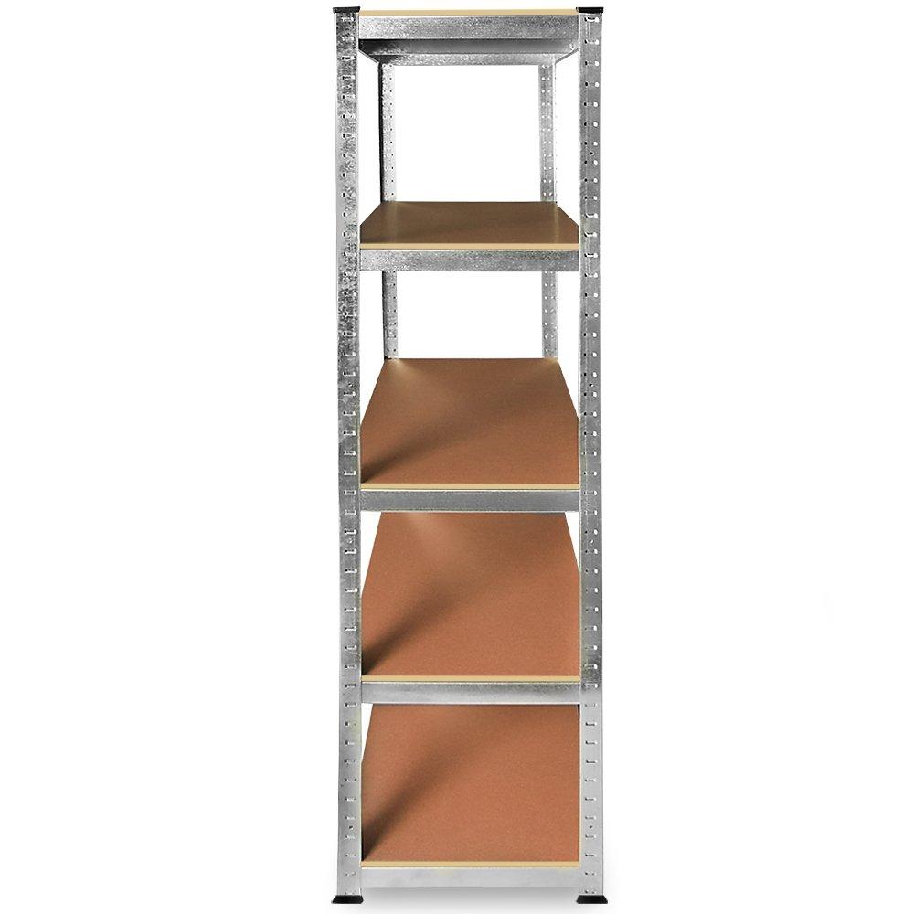 2x 10x Size Choice 1x 5x Industrial Steel Shelving Unit 5 Tier 1800x900x400mm Garage 875killogramm Heavy Duty Metal Racking Storage Shelves
