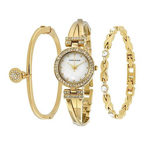 Женские часы Anne Klein Goldtone Crystal