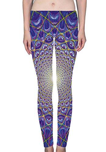 LuxSweet Trippy Alex Grey Women's Ladies Printed Leggings Soft Stretchy Yoga Pants - Grey T-shirts Alex