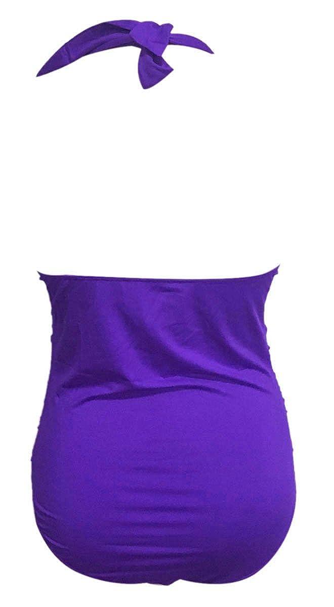 FEOYA Rojo Violeta Gris Verde Negro Azul Azul marino Rojo oscuro Beige Talla S M L XL XXL Ba/ñador Bikini Mujer de Una pieza Ropa de Nataci/ón Vintage Retro Traje de Ba/ño Swimwear Para Playa
