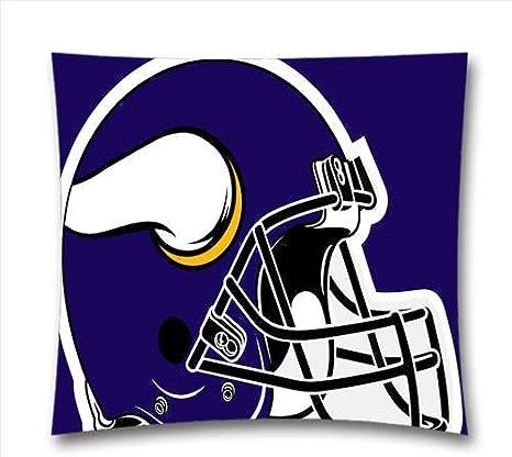 Mama Nfl Minnesota Vikings Throw Cushion Pillow Cover Vikings Pillowcase 18x18 Inch 45x45 Cm Amazon Co Uk Sports Outdoors