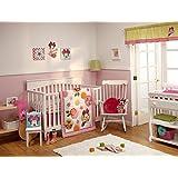 Disney Minnie Petals Perfect 4 Piece Crib Bedding Set