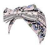 FEDULK Women Headscarf Headwrap Hijab Soft Head Wrap Stretch Cancer Chemo Muslim Cap Islamic Underscarf Hats(Pink)