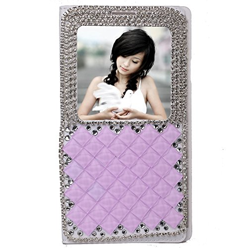 Czech Republic Shining Crystal Art Illustration pink purple color Leather Flip Smart View Battery Case Cover for Samsung Galaxy Note 3 III N9000