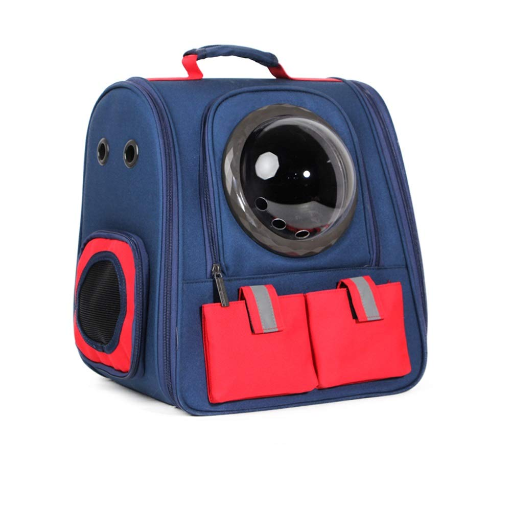 C TSDS Outing Pet Backpack Portable Pet Space Bag Breathable Cat Dog Cage Car Pet Backpack (color   D)