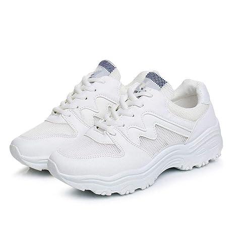 YSFU Zapatillas Zapatillas De Mujer Zapatos Casuales Plataforma De Primavera De Otoño Zapatos De Mujer Zapatillas