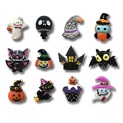12 Pack Creative Halloween Fridge Magnet Gifts Halloween Day Home Decoration Kids Refrigerator Magnet - Perfect Magnets for Whiteboard, Refrigerator, Map and Calendar]()