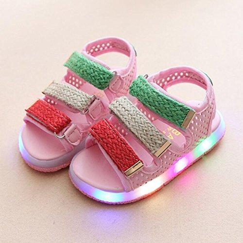 Zapatos de la sandalia del LED Muchachos Muchachos Toddler Beach Shoes rosado