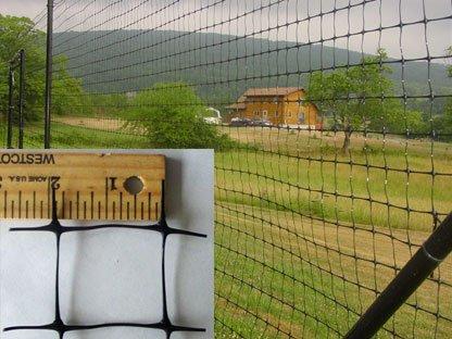 (Tenax 60100109 Pro Deer Fence, Black, 7.5-Feet by 100-Feet)