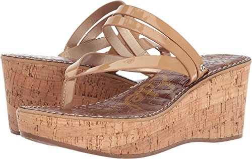(Sam Edelman Women's Rasha Wedge Sandal, Almond Patent, 10 M US)