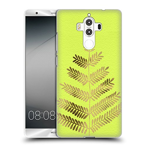 Leaflet 9 Designs (Official Cat Coquillette Leaflets Yellow Nature Hard Back Case for Huawei Mate 9)
