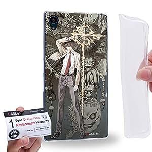 Case88 [Sony Xperia Z5] Gel TPU Carcasa/Funda & Tarjeta de garantía - Death Note Light Yagami Ryuk 1221