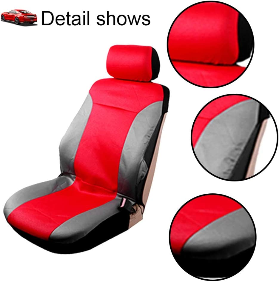 Blue//Gray cciyu Seat Cover Universal Car Seat Cushion w//Headrest//Steering Wheel Cover//Shoulder Pads 100/% Breathable Car Seat Cover Washable Auto Covers Replacement fit for Most Cars