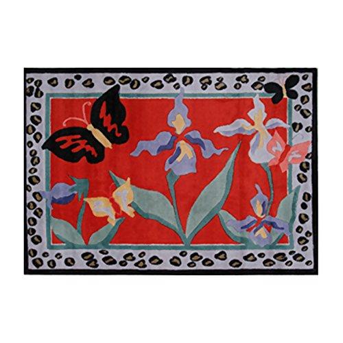 (Fun Rugs Jade Reynolds Irises Home Decorative Accent Area Rug 39