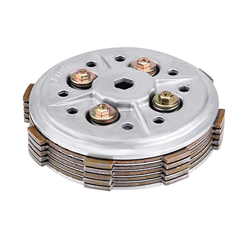 Qiilu Motorcycle Clutch Disc Pressure Plate Assembly for Yamaha YBR125 YBR 125
