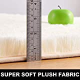 PAGISOFE Yellowish Ivory Fluffy Shag Area Rugs for