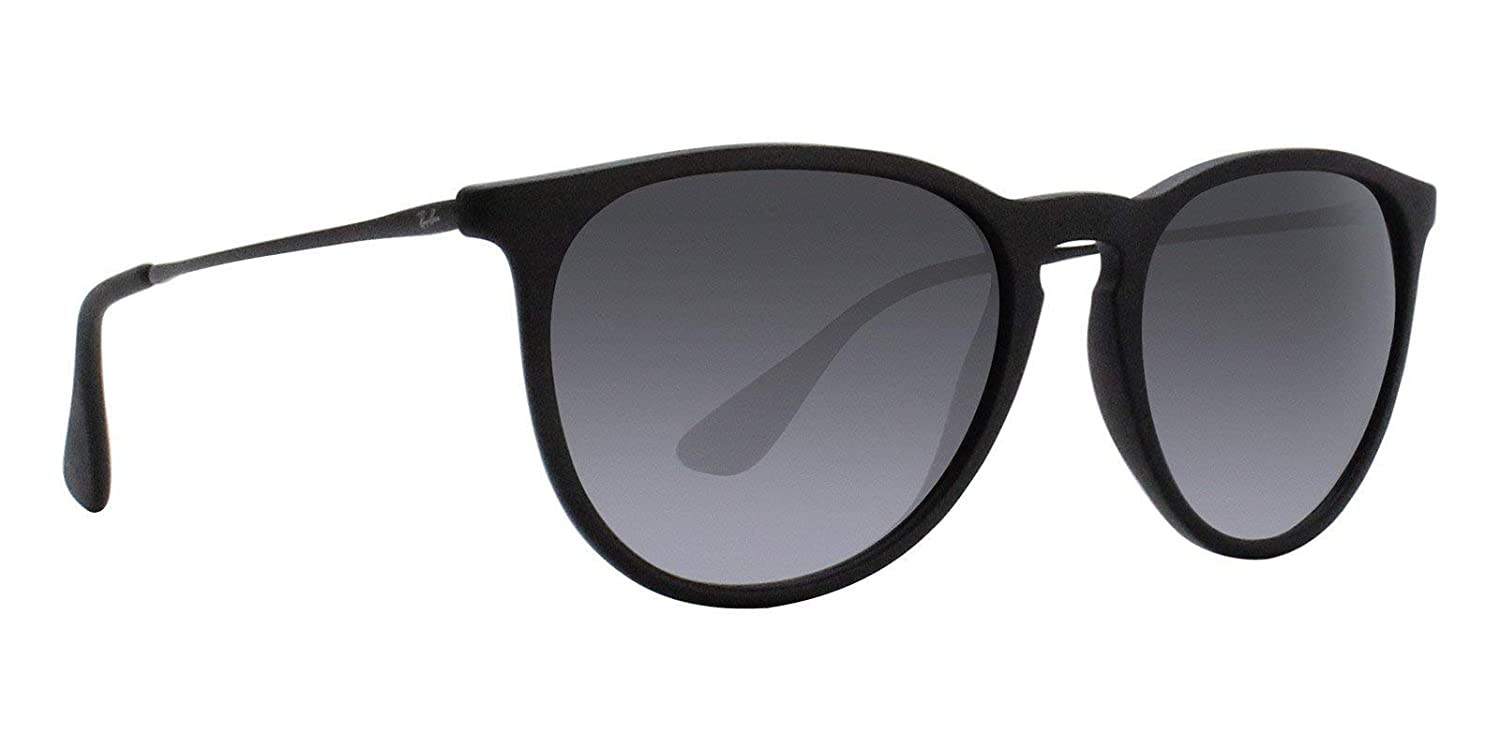 ddf4bed69713d Amazon.com  Ray-Ban RB4171 Erika Sunglasses Matte Black w Grey Gradient  (622 8G) 4171 6228G 54mm Authentic  Clothing