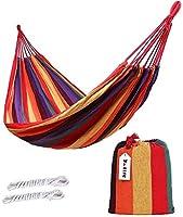ValueHall Outdoor Soft Cotton Fabric Brazilian Hammock Double Wide 2 Person Travel Camping Hammock V7010-1 (Orange)