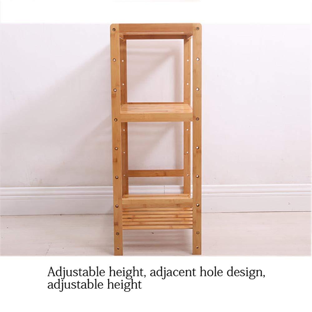 423080cm PeaceipUS DIY Assembled Bamboo Shelf Floor Multi-Layer Adjustable Height Storage Rack Bathroom Kitchen Storage Tea Rack (Size   62  30  140cm)