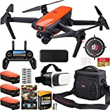 Drone Repair Parts - Autel Robotics EVO Drone Quadcopter On The Go Extended Warranty Bundle 4K Ultra HD Video and 3-Axis Gimbal 12MP Photo Camera with OLED Remote Control + FPV VR Goggle Headset + Triple Battery Kit