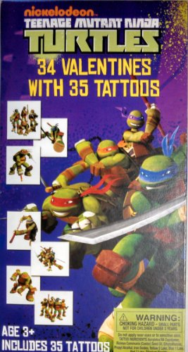 (Teenage Mutant Ninja Turtles 34 Valentines Cards with)