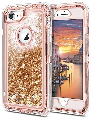 JAKPAK iPhone 7 Case 3D Glitter Quicksand iPhone 7 Case Flow
