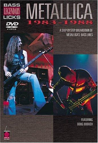 Licks Bass Legendary - Metallica - Bass Legendary Licks 1983-1988 DVD DVD