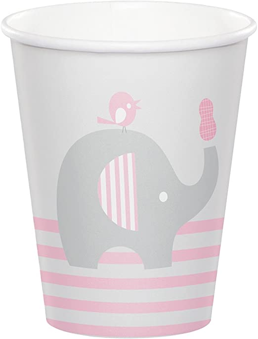 Girl Little Peanut Creative Converting 316945 96Count 9 oz Hot//Cold Paper Cups Little Peanut- Girl