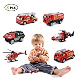 Joy-Jam Toys 4-5 Year Old Boys Fire Truck Toy Vehicles Alloy Die-cast Toy Cars Boys Gifts Age 5-6 JY03